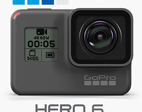 GoPro Hero6 Black action camera 3D asset