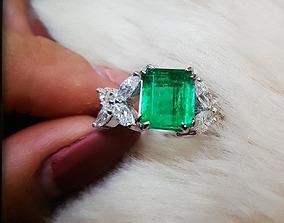Ring Emerald Diamond 3D printable model