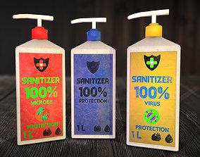 Sanitizer - antiseptic for hands 3D model