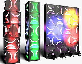 3D Stage Decor 18 ModularColumn Wall