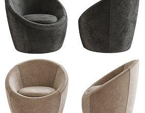 Crest Swivel Chair 3d model game-ready