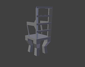 3D model Maple highbacked chair