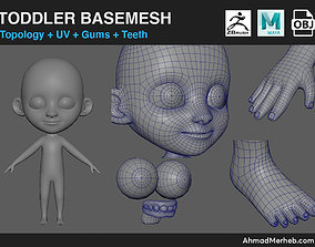 Toddler Kid Base Mesh 3D model