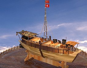 Chinese junk boat 3D model