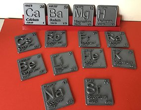 Periodic Table of Elements s-block 3D print model 3