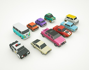 Simple Poly Cars - 10 Models - City Town cars realtime