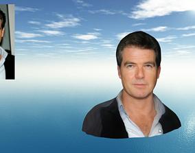 James Bond Pierce Brosnan Face-Head ready for 3D