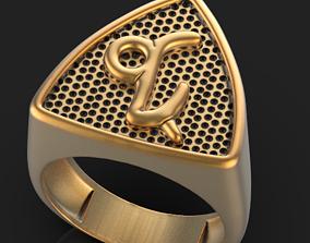 Zodiac Capricorn ring 3D print model