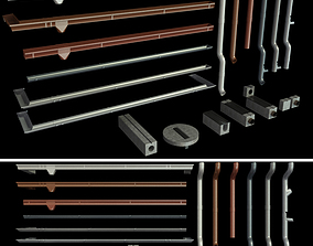 Gutter and Elements of the drainage system 3D