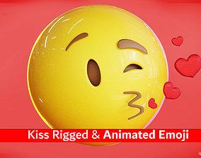 Animated Kiss Emoji Reaction 3D model
