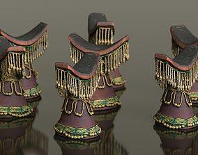 3D model Headrest Africa Wood Furniture Prop 36