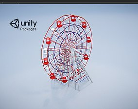 Carousel Ferris wheel Unity Package 3D asset