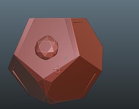 3D print model dedecahedron box with hinge