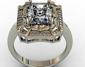 gems Diamond ring 3D print model 3D print model