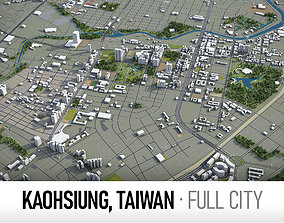 3D asset Kaohsiung Taiwan - city and surroundings