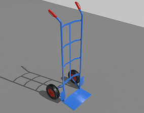 3D asset Industrial Hand Trolley 1