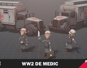 3D model WW2 DE Medic