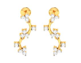 jewelry diamondearrings Women earrings 3dm render detail