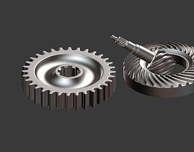 3D model mechanical gears