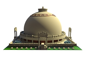 Deekshabhoomi Nagpur India Architecture Scale Model