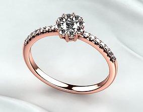 Red Gold Fashion Ring 3D printable model engagem