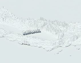 California USA TerrainTerrain model landscape 3D model