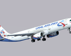 Airbus A321-200 Ural Airlines 3D model