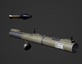 The M72 LAW Light Anti-Tank Weapon - RIGGED 3D asset 3