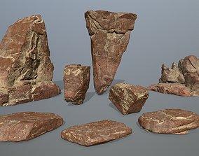 desert rock set 3D asset