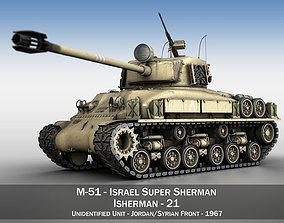 M51 Israel Super Sherman - 21 3D