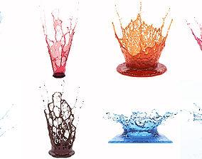Crowns Splash Set 3D model