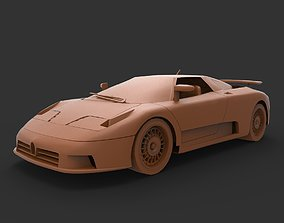 Bugatti EB110 3D print model