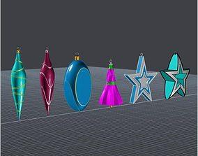 Christmas ornament set 3D print model