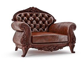 3D large leather chair