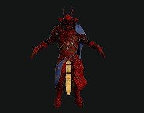 Red Samurai 3D model VR / AR ready