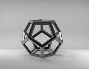 Empty dodecahedron 3D print model