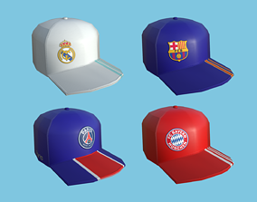 3D 04 Soccer Teams Caps - Hat Collection - Character