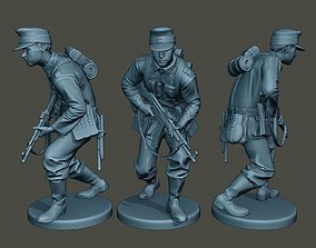 German soldier ww2 Action G3 3D printable model