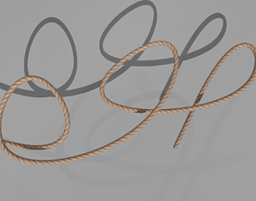 3D model ROPE rigged
