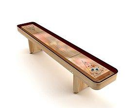 3D model Indoor Shuffleboard Table