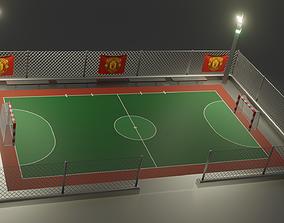 3D model soccer court