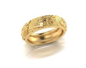 Wolf Ring G18-123 3D printable model