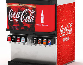 8-Flavor Ice and Beverage Soda Fountain System 3D model