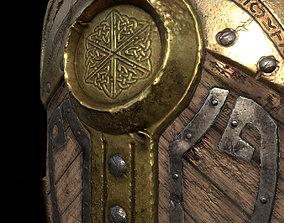 Fantasy War Shield 3D asset