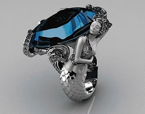 Mermaid ring 3D print model