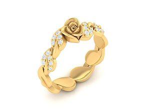3D printable model 4313 Beautiful Rose ring
