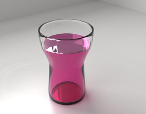 3D Glass Cup 3 with Liquid