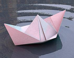 3D model Origami - Paper boat
