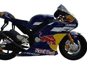 Yamaha m1 redbull 3D model