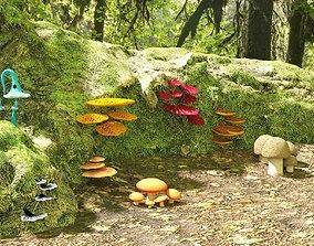spore MUSHROOMS- 8 MODELS PACK game-ready